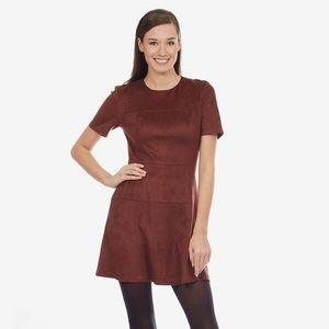 Faux Suede Dress by Fate
